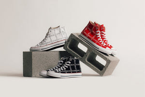 JW Anderson X Converse Chuck 70 HI Grid - Black/White/Insignia Red #160807C-Preorder Item-Navy Selected Shop