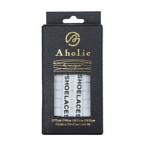 "Aholic ""Shoelaces"" Wording Flat Shoelaces (文字偏鞋帶) - White (白)-Shoelaces-Navy Selected Shop"