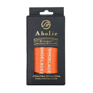 "Aholic ""Shoelaces"" Wording Flat Shoelaces (文字偏鞋帶) - Orange (橙)-Shoelaces-Navy Selected Shop"
