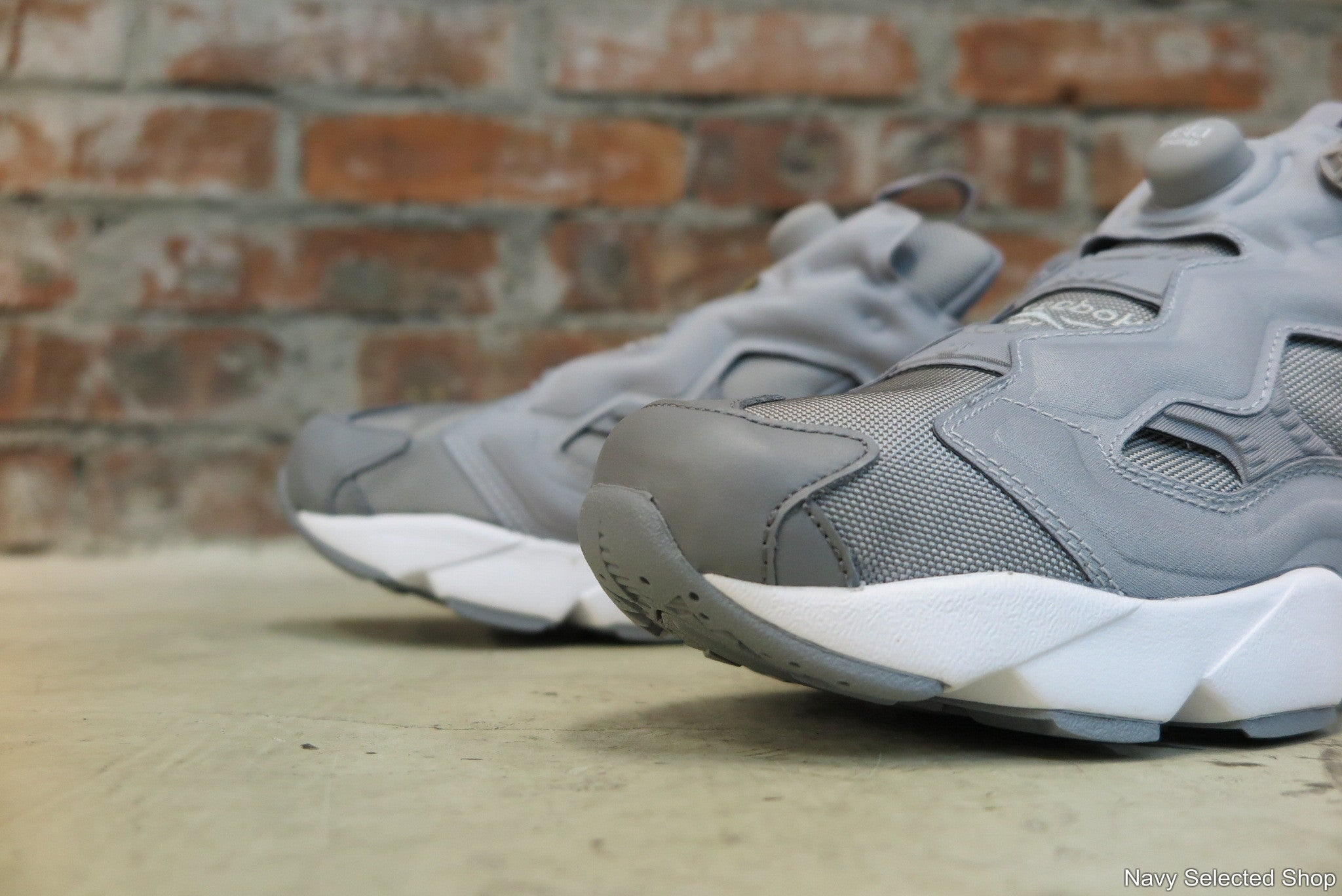 Reebok Instapump Fury OG - Flat Grey #V65751-Sneakers-Navy Selected Shop