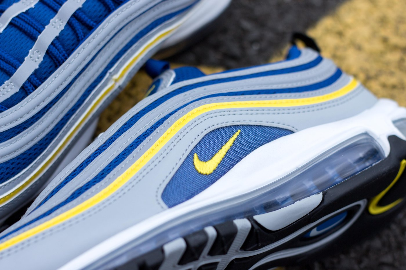 Nike Air Max 97 - Wolf Grey/Tour Yellow/Gym Blue/White #921826-006-Preorder Item-Navy Selected Shop