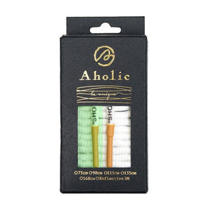 "Aholic ""Shoelaces"" Wording Shoelaces (文字半圓鞋帶) - Glow In The Dark (夜光紀念款)-Shoelaces-Navy Selected Shop"