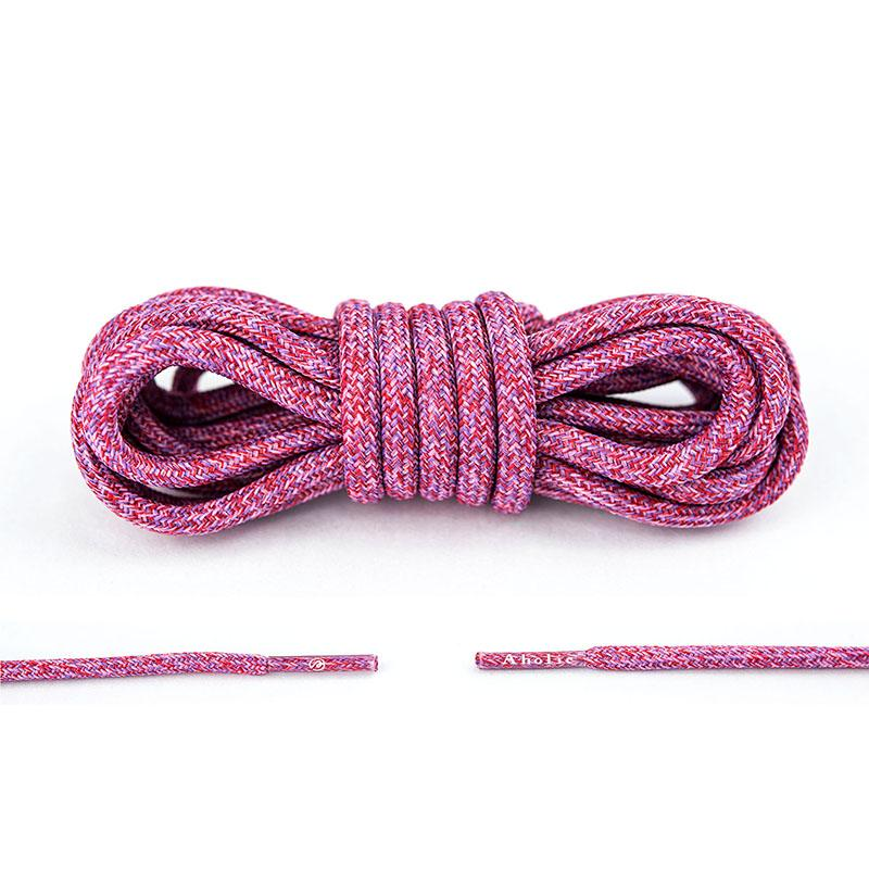Aholic Multi-Color Shoelaces (迷彩混色鞋帶) - Pink Camo (桃紅迷彩)-Shoelaces-Navy Selected Shop