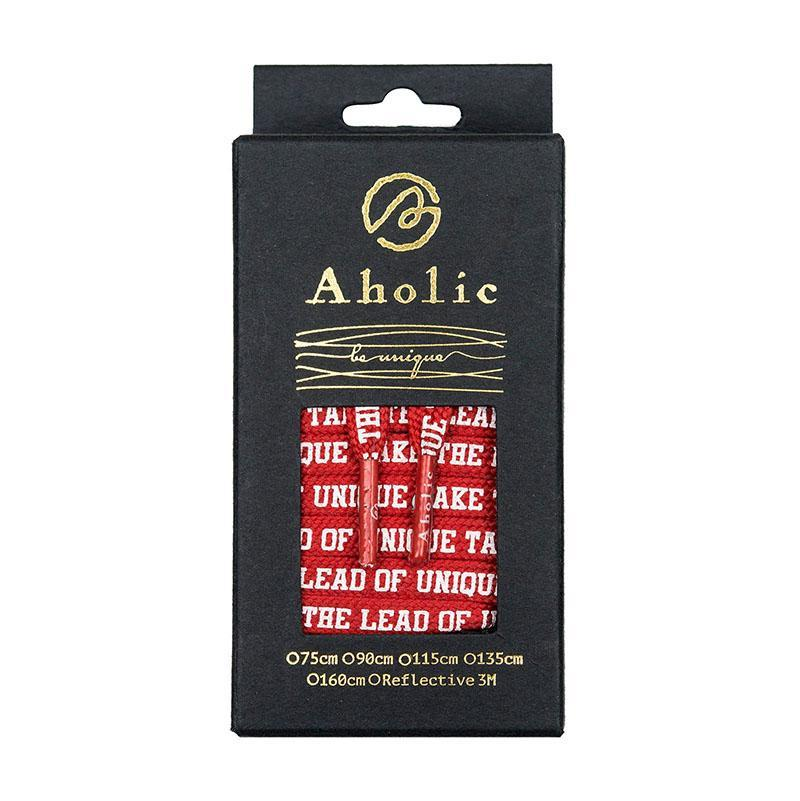 Aholic Be Unique Message Shoelaces (文字鞋帶) - Red (紅)-Shoelaces-Navy Selected Shop