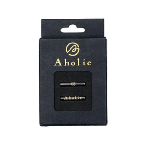 Aholic Elegant Aglets (典雅金屬頭) - Gunmetal (槍)-Shoelaces-Navy Selected Shop