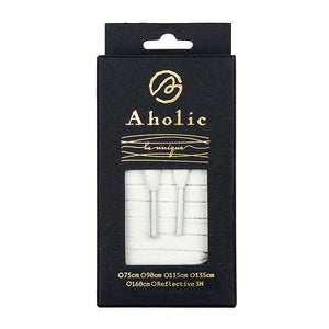 Aholic Waxed Flat Shoelaces (上蠟簡約扁帶) - White (白)-Shoelaces-Navy Selected Shop