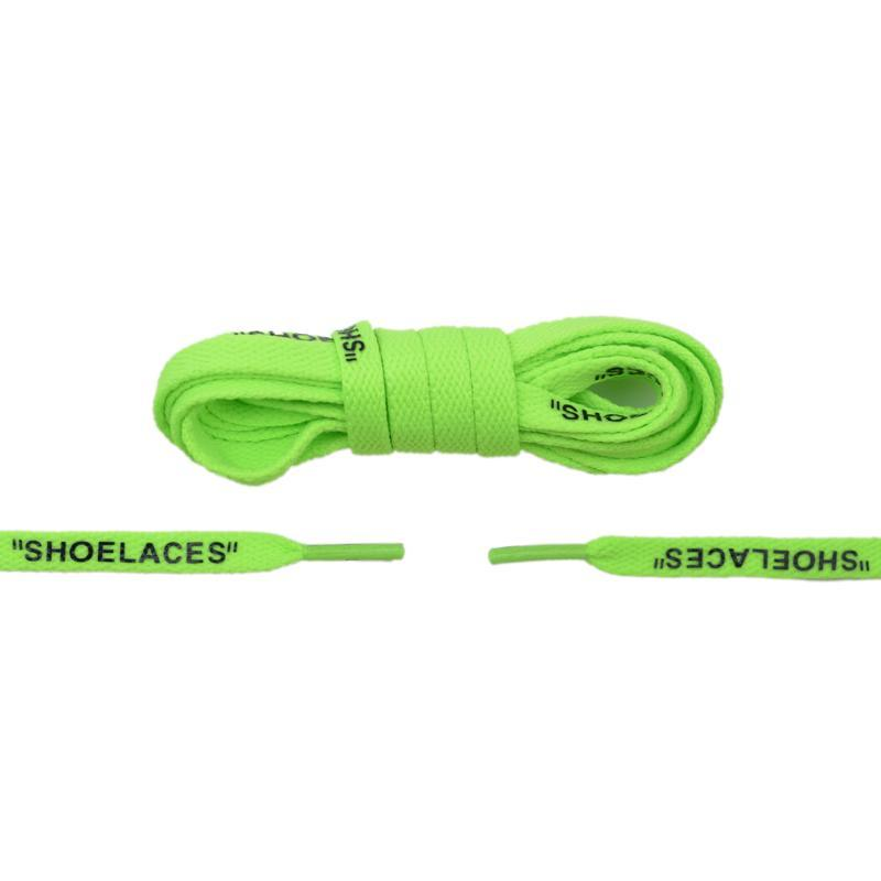 "Aholic ""Shoelaces"" Wording Flat Shoelaces (文字偏鞋帶) - Green (綠)-Shoelaces-Navy Selected Shop"