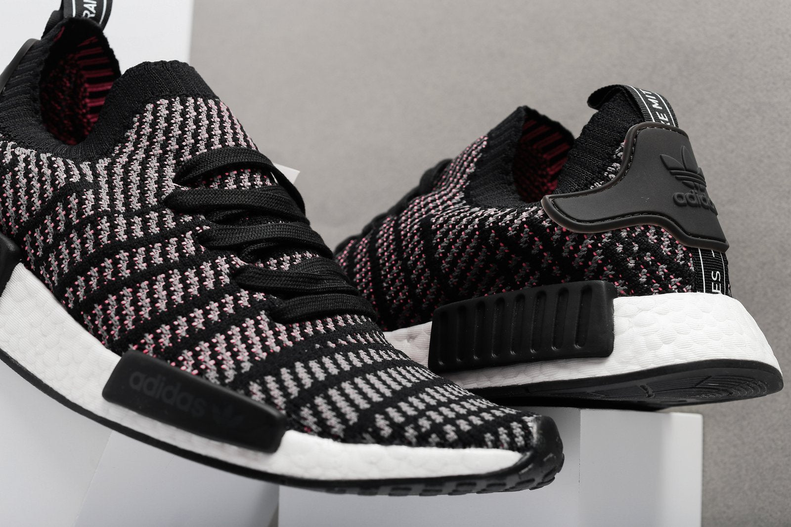 "adidas NMD_R1 Primeknit ""Stealth Pack"" - Core Black/Grey Four/Solar Pink #CQ2386-Preorder Item-Navy Selected Shop"