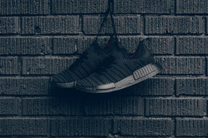 adidas NMD_R1 STLT Primeknit - Core Black/Utility Black/Solar Pink #CQ2391-Preorder Item-Navy Selected Shop