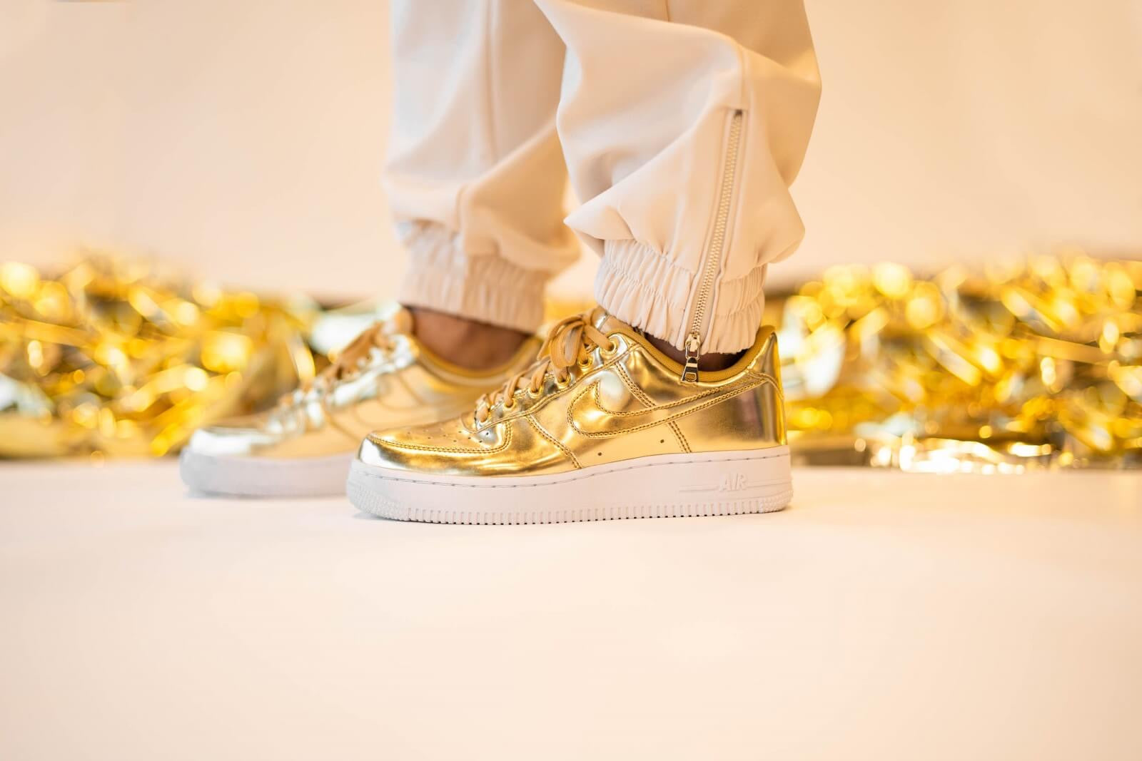 Nike WMNS Nike Air Force 1 SP - Metallic Gold/Club Gold/White #CQ6566-700-Preorder Item-Navy Selected Shop