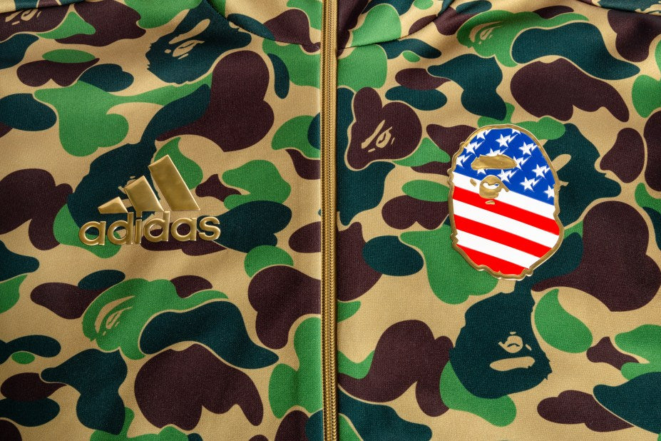adidas Originals By BAPE Shark Hoodie - Green Camo #DW9286-Apparels-Navy Selected Shop