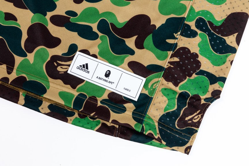 adidas Originals By BAPE Football Jersey - Green Camo #DW9285-Apparels-Navy Selected Shop