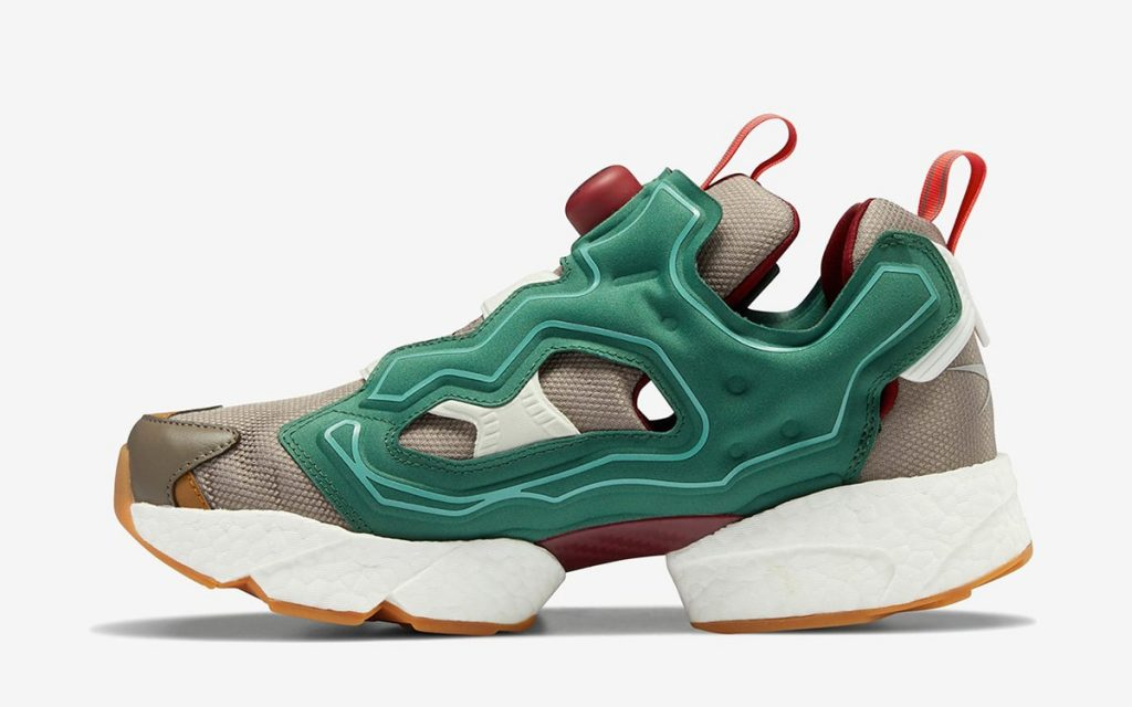 Billionaires Boys Club x Reebok Instapump Fury BOOST - Pine Green/Boulder Grey/Triathalon Red #GZ5363-Preorder Item-Navy Selected Shop