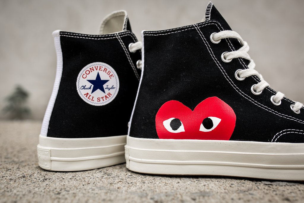 Play Comme des Garçons x Converse Red Heart Chuck Taylor All Star '70 High - Black #150204C-Preorder Item-Navy Selected Shop