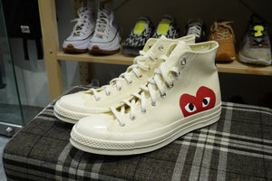 Play Comme des Garçons x Converse Red Heart Chuck Taylor All Star '70 High - White #150205C-Preorder Item-Navy Selected Shop