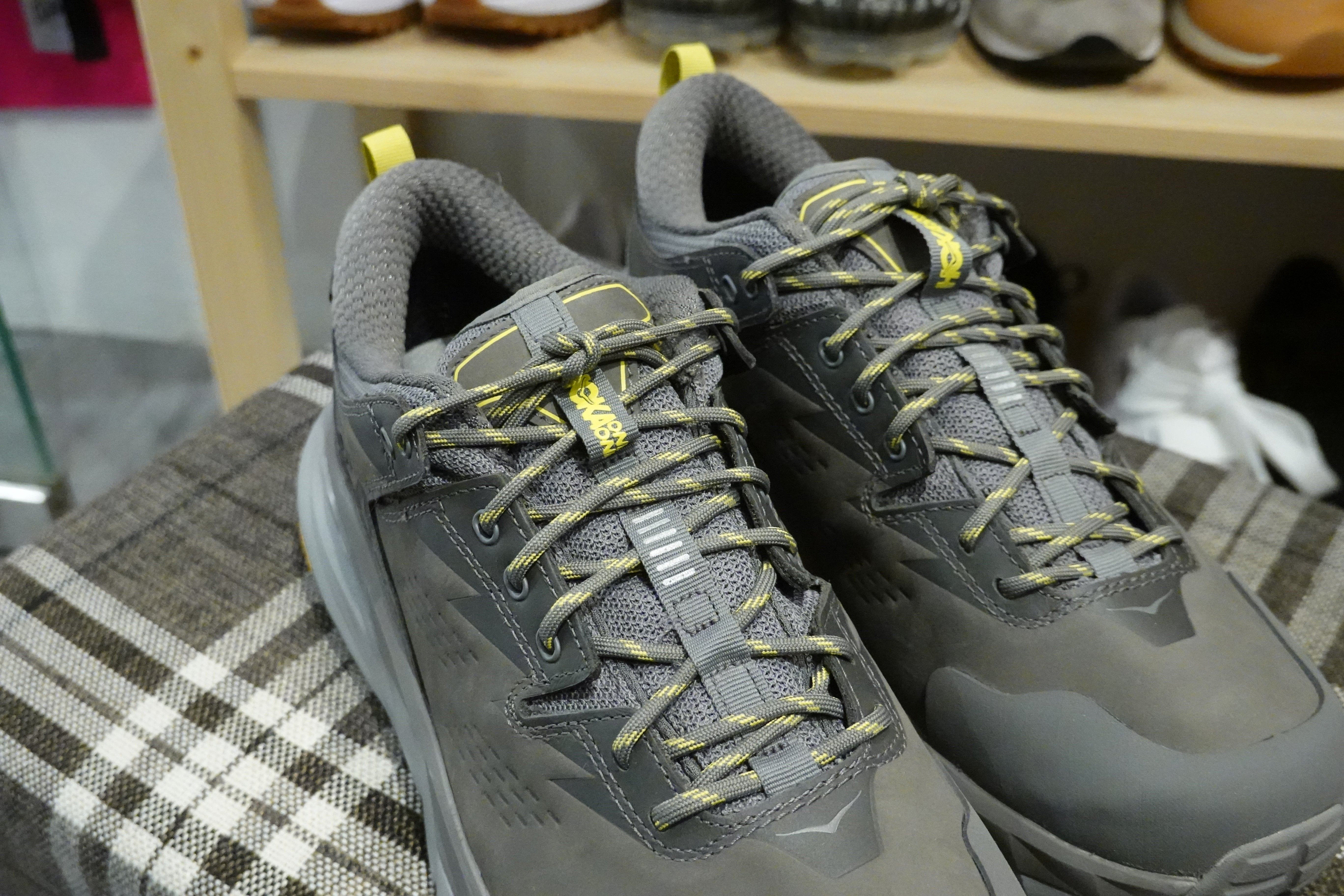 Hoka One One Kaha Low GoreTex - Charcoal Gray/Green Sheen #1118586-CGGS-Preorder Item-Navy Selected Shop