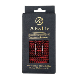 Aholic Normal Serpentine Shoelaces (蛇紋鞋帶) - Red Serpentine (紅蛇紋)-Shoelaces-Navy Selected Shop
