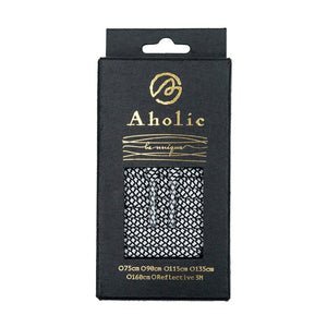Aholic Normal Serpentine Shoelaces (蛇紋鞋帶) - Black/White Serpentine (黑白蛇紋)-Shoelaces-Navy Selected Shop
