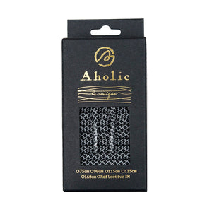 Aholic 3m Reflective Round Shoelaces (3M反光圓鞋帶) - Black (黑蛇紋)-Shoelaces-Navy Selected Shop