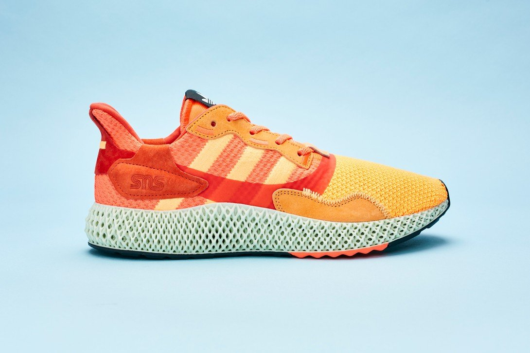 Sneakersnstuff x adidas Consortium ZX 4000 4D - Flaming Orange/Active Maroon #FV5524-Preorder Item-Navy Selected Shop