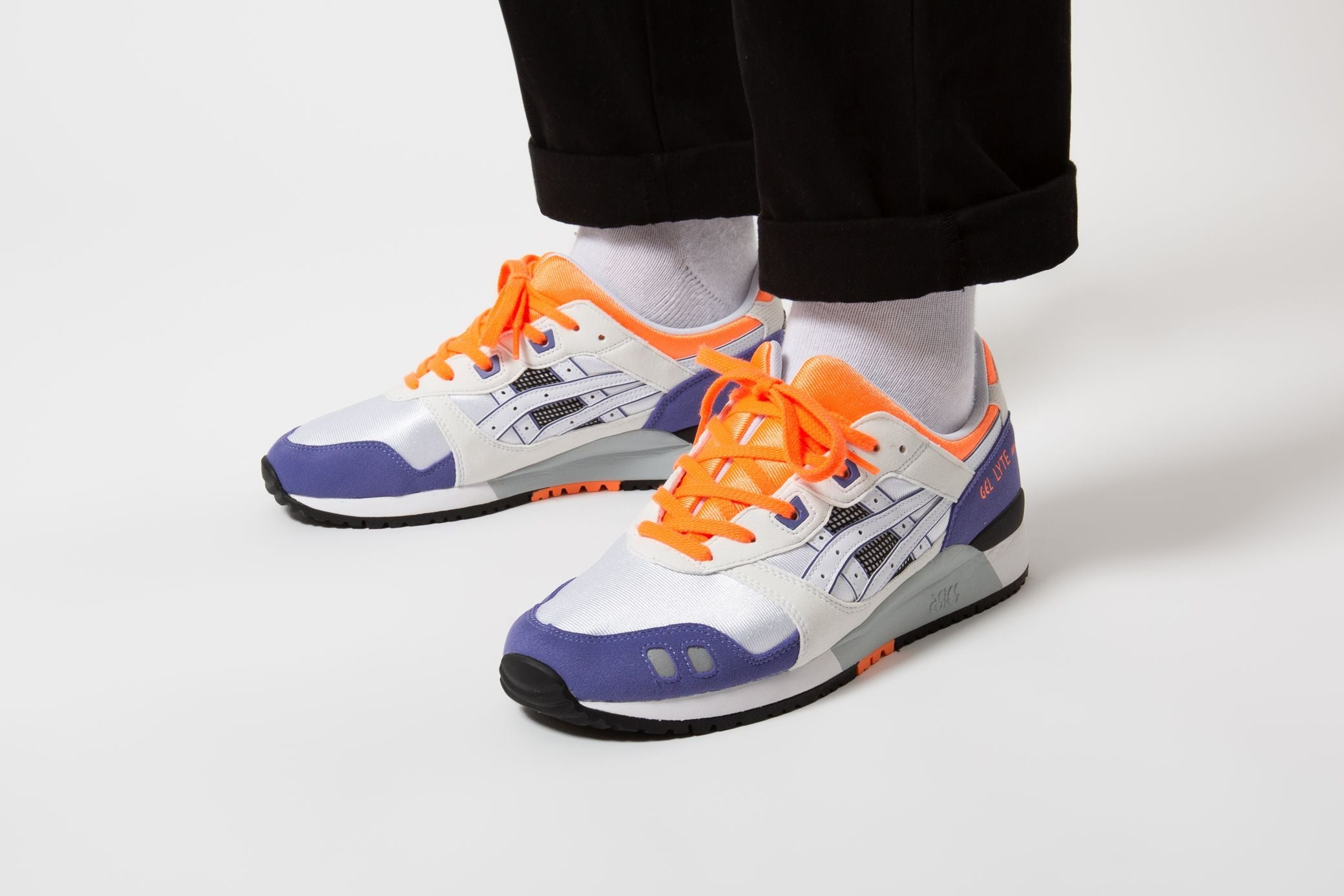 Asics Gel Lyte III OG - White/Orange #1191A266-102-Preorder Item-Navy Selected Shop