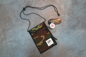 "Drifter Neck Pouch ""Made in USA"" - Wooland Camo #DF0240-Bag-Navy Selected Shop"