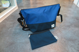 "Drifter Are Way Pouch Medium ""Made in USA"" - Royal Blue/Navy #DF1270-Bag-Navy Selected Shop"