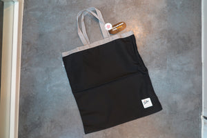 "Drifter Fold Away Tote ""Made in USA"" - Black/Silver #DF1600-Bag-Navy Selected Shop"