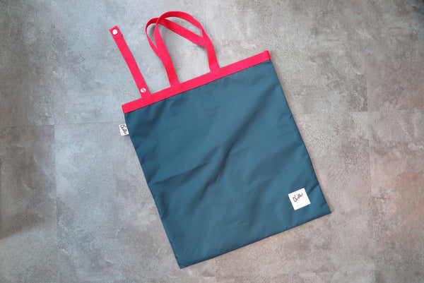 "Drifter Fold Away Tote ""Made in USA"" - Navy/Red #DF1600-Bag-Navy Selected Shop"