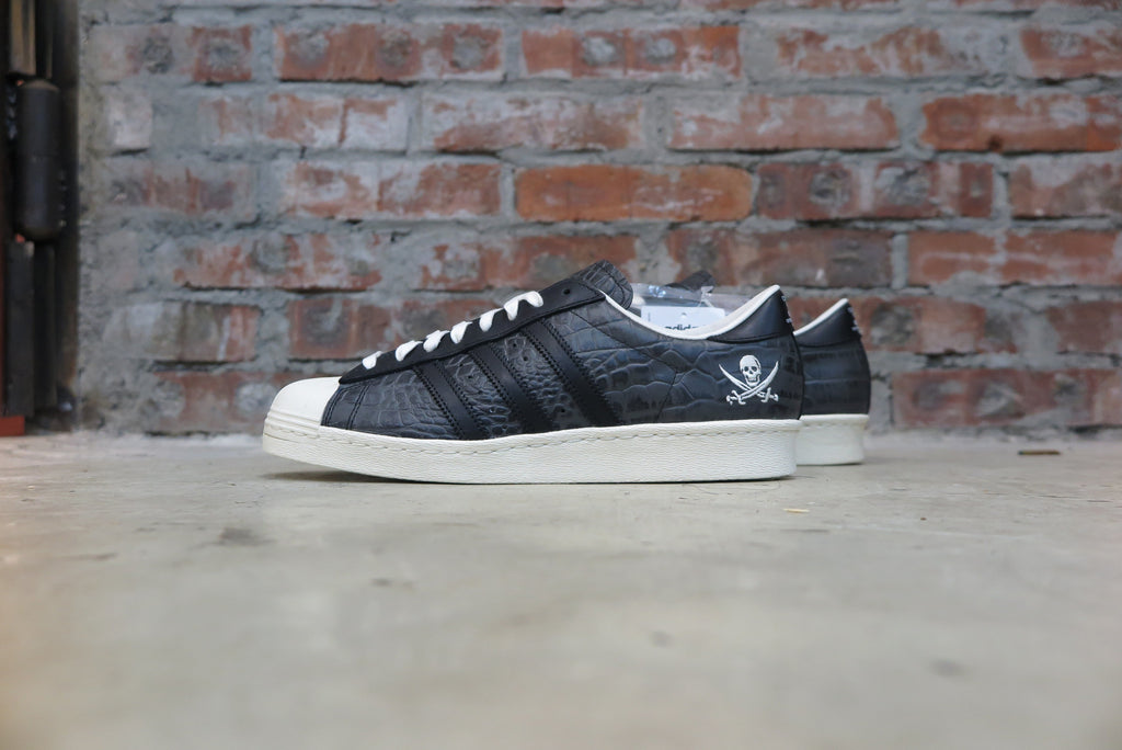 "Neighborhood X Adidas Consortium Superstar 80v ""10th Anniversary"" #B34070-Sneakers-Navy Selected Shop"