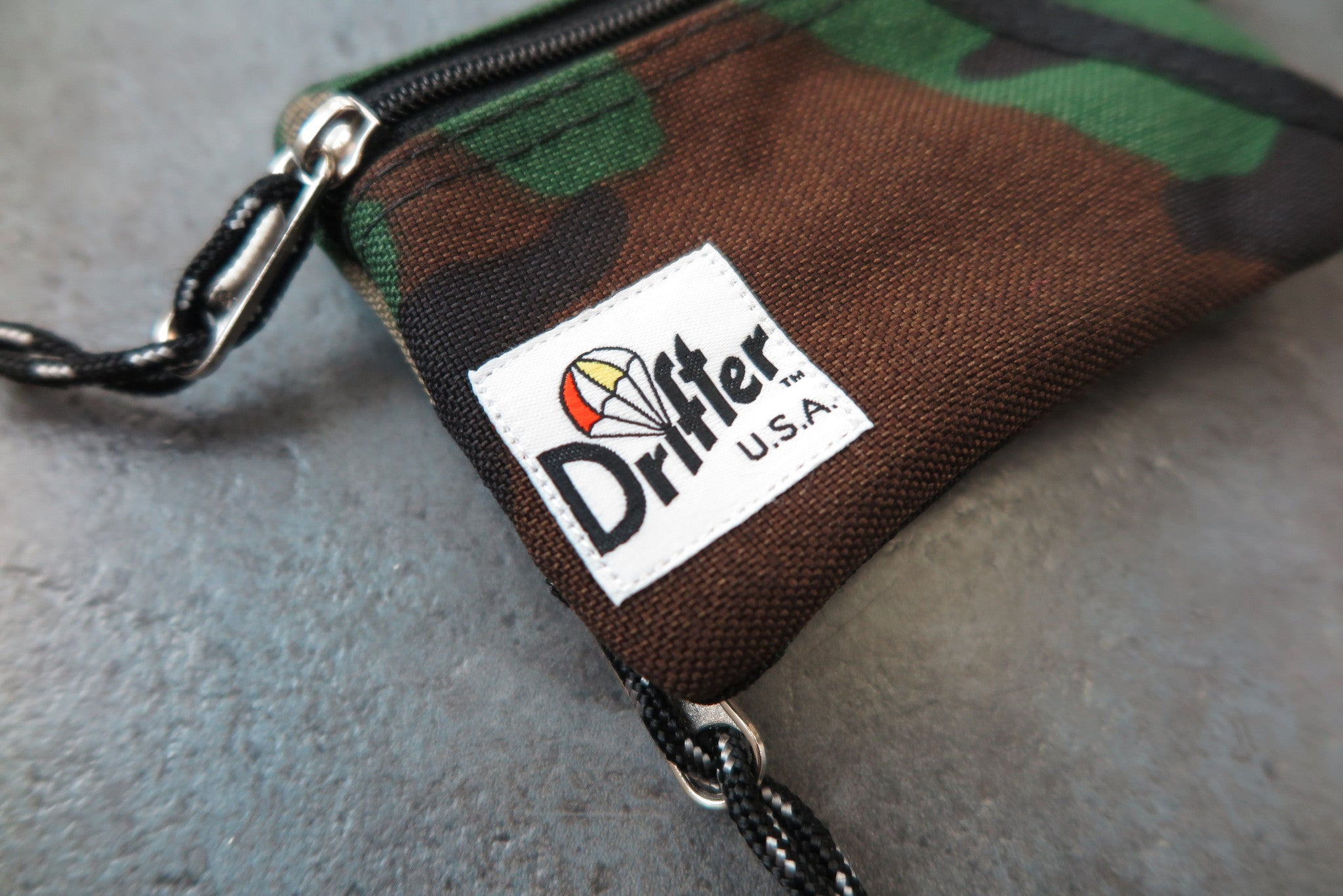 "Drifter Key Coin Pouch ""Made in USA"" - Woodland Camo #DF0230-Bag-Navy Selected Shop"