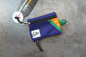 "Drifter Key Coin Pouch ""Made in USA"" - Iris/Saffron #DF0230-Bag-Navy Selected Shop"