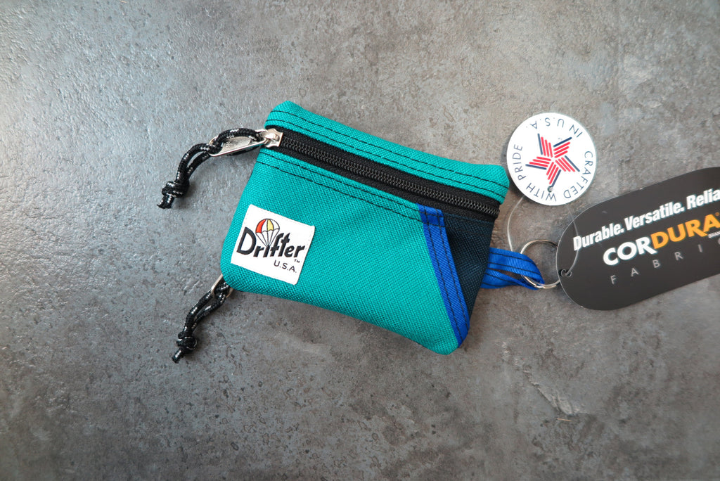 "Drifter Key Coin Pouch ""Made in USA"" - Peacock/Navy #DF0230-Bag-Navy Selected Shop"