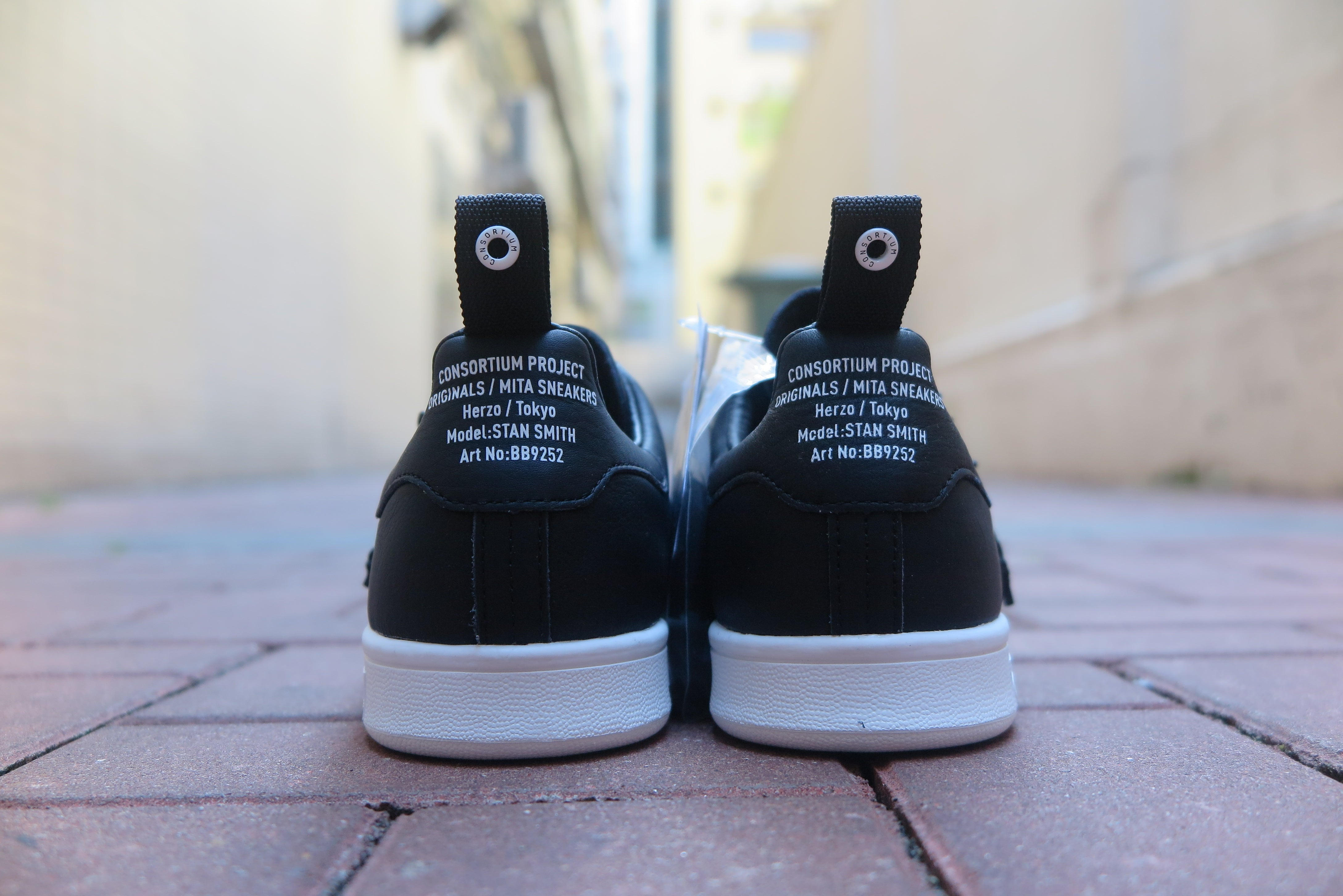 "mita sneakers X Adidas Stan Smith ""Cages & Coordinates"" - Core Black/Footwear White #BB9252-Preorder Item-Navy Selected Shop"