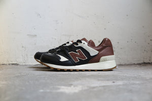 "Burn Rubber x New Balance CM577BR ""Joe Louis""-Sneakers-Navy Selected Shop"