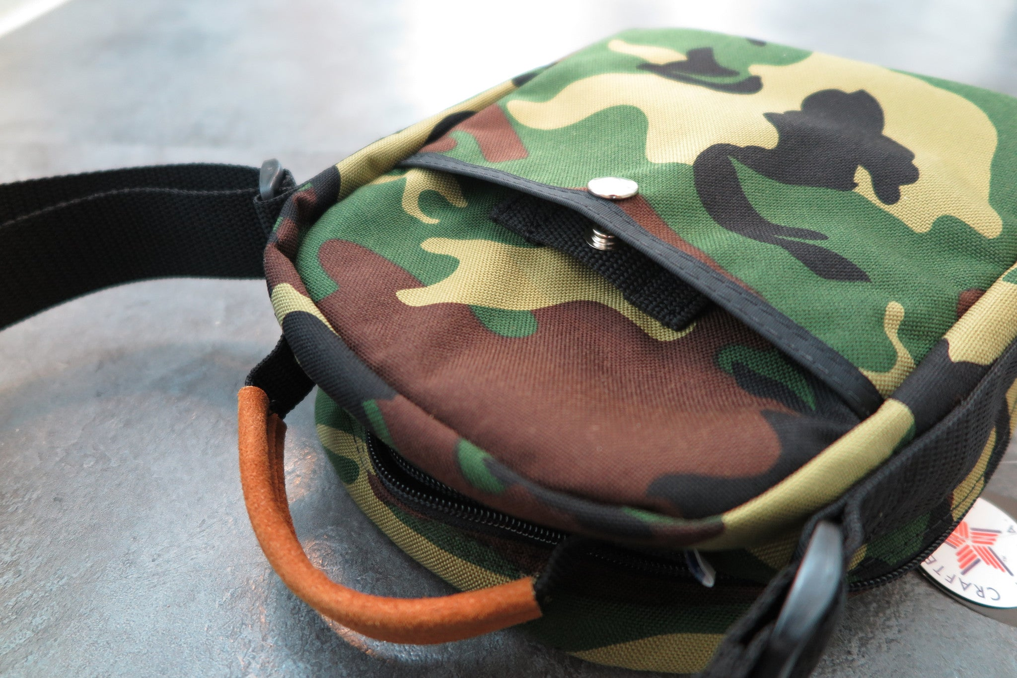 "Drifter Camera Bag ""Made in USA"" - Woodland Camo #DF0360-Bag-Navy Selected Shop"