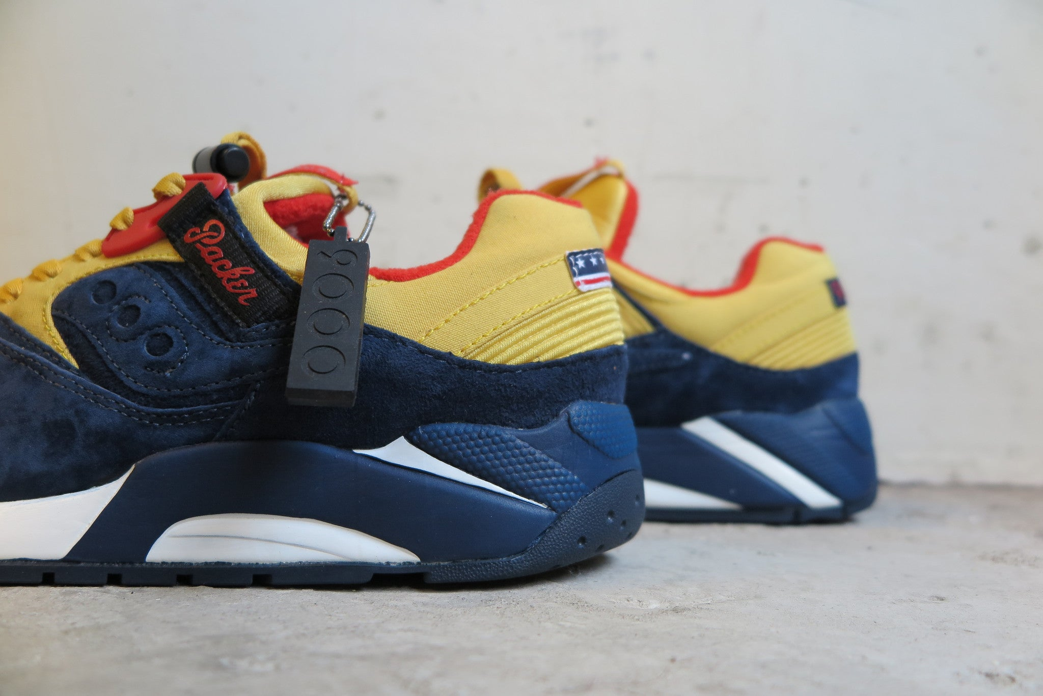 "Packer Shoes X Saucony Grid 9000 ""Snow Beach"" #70147-1-Sneakers-Navy Selected Shop"
