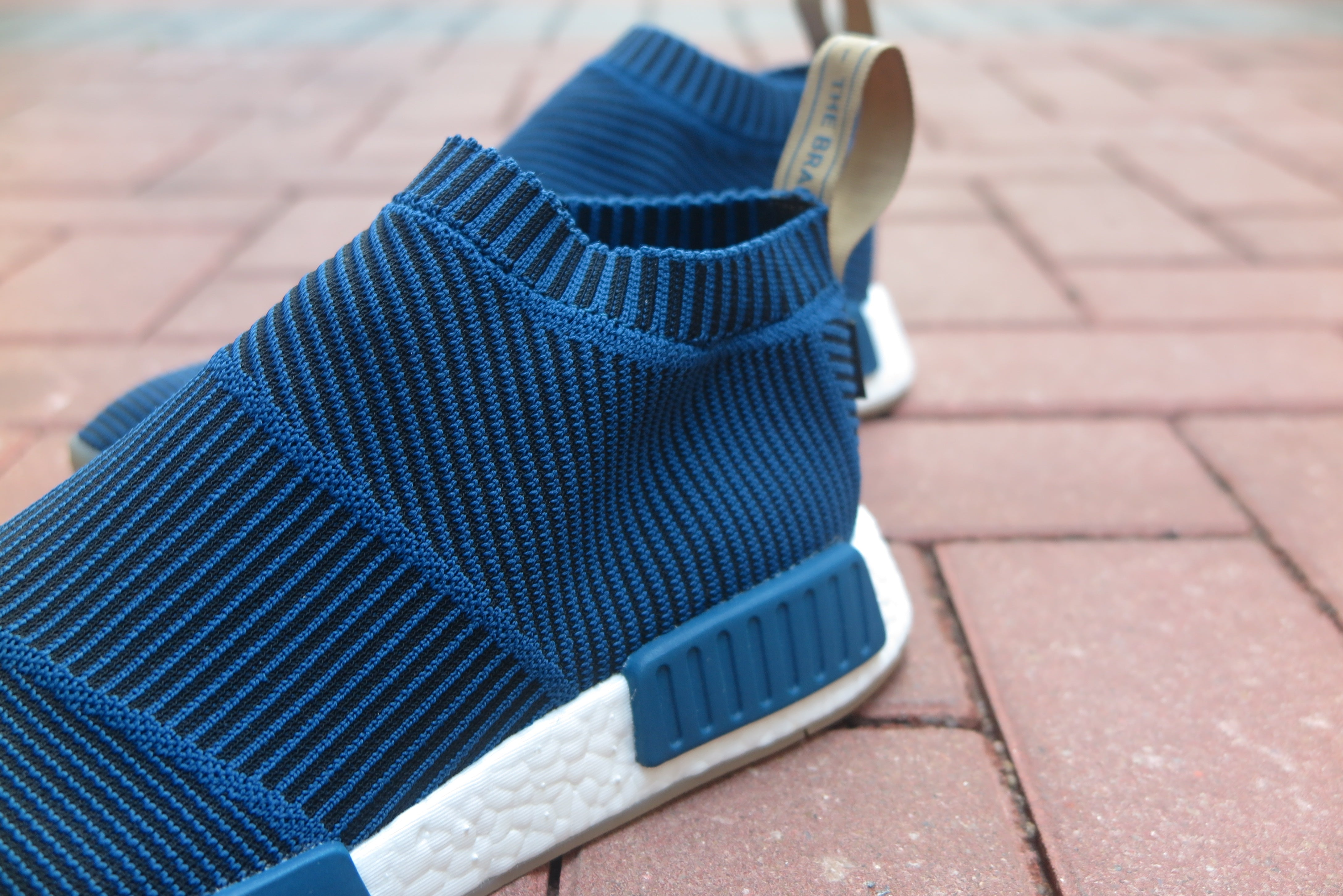 "GORE-TEX® X adidas NMD_CS1 Primeknit ""SNS Exclusive"" - Blue Night/Core Black/Cardboard #AQ0363-Preorder Item-Navy Selected Shop"