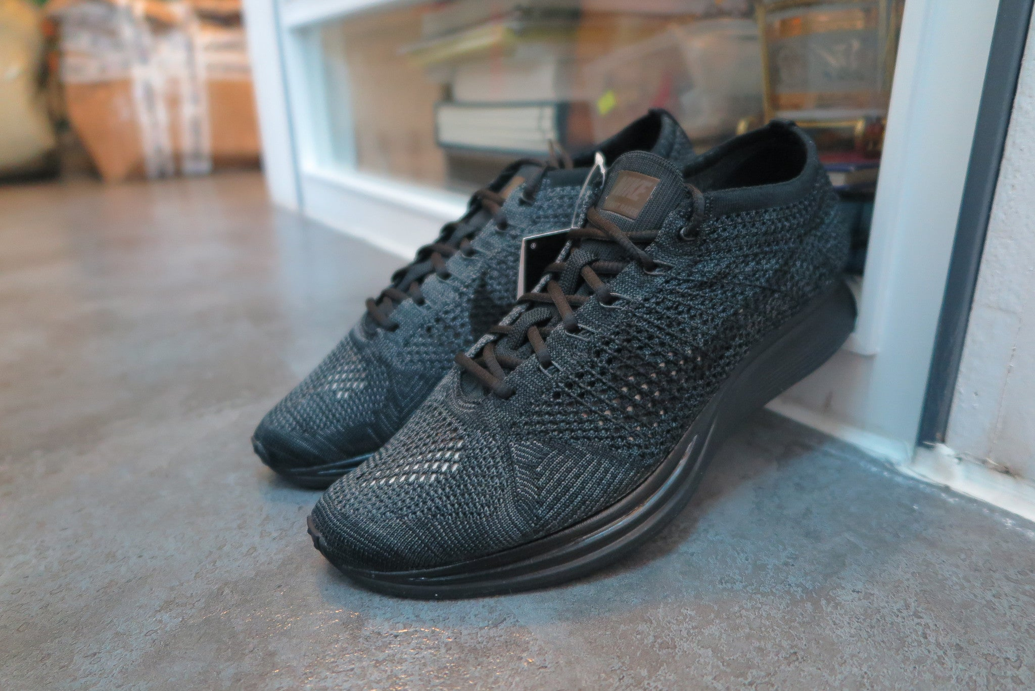 new product 724ab cca8d nike flyknit racer triple black black anthractie 526628 009 nike flyknit  racer triple ...