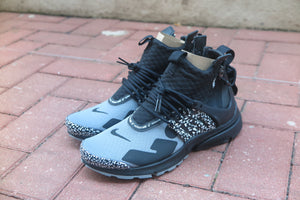 Acronym x Nike Air Presto Mid - Cool Grey/Black #AH7832-001-Sneakers-Navy Selected Shop