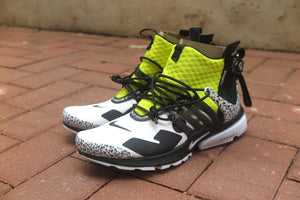 Acronym x Nike Air Presto Mid - White/Black/Dynamic Yellow #AH7832-100-Sneakers-Navy Selected Shop