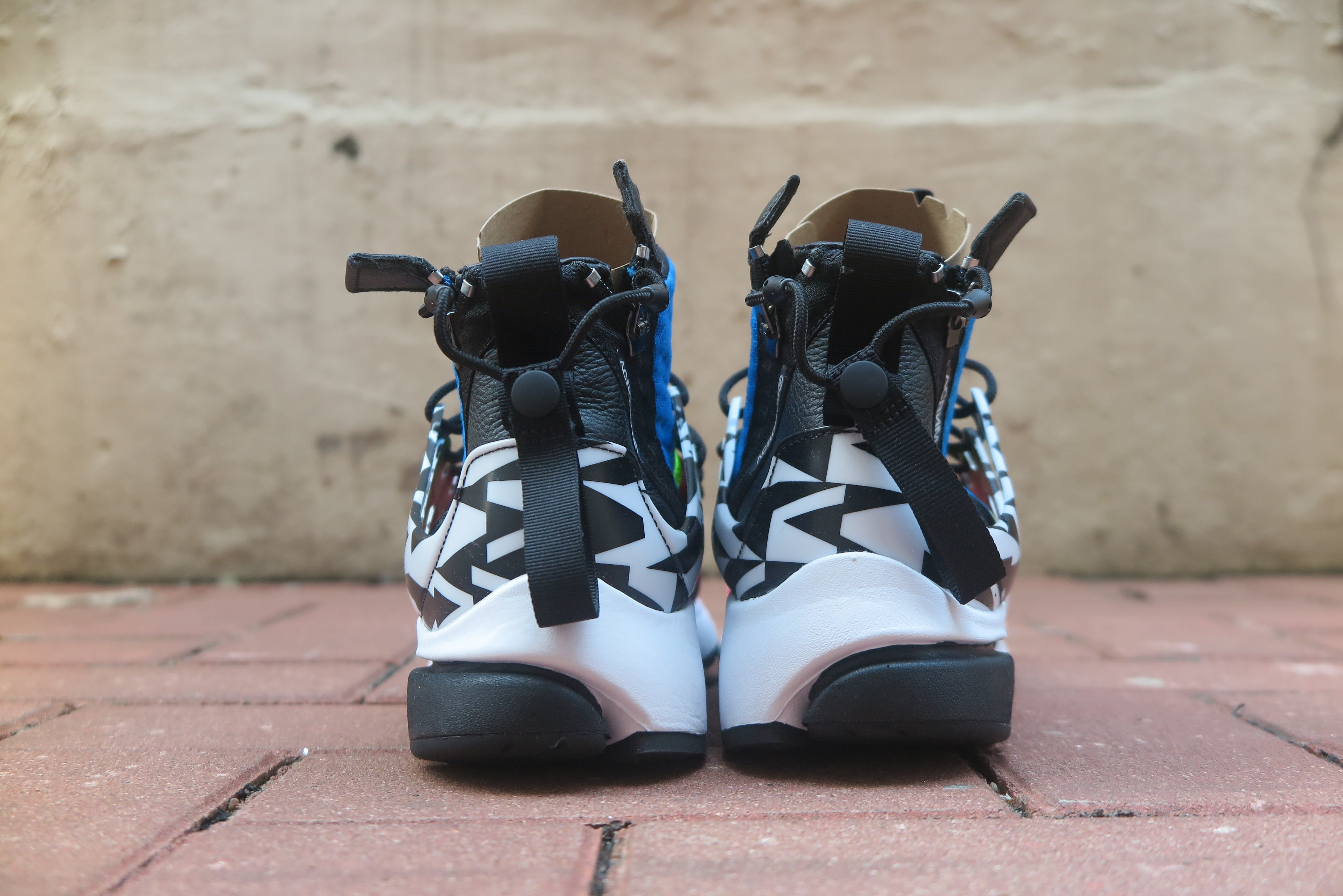 Acronym x Nike Air Presto Mid - Racer Pink/Photo Blue/White/Black #AH7832-600-Sneakers-Navy Selected Shop