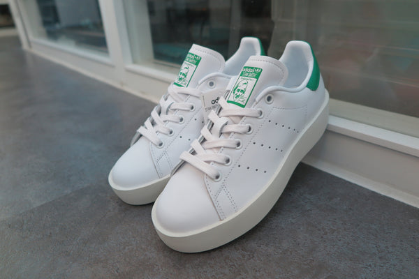 adidas WMNS Stan Smith Bold - Footwear White/Green #S32266-Preorder Item-Navy Selected Shop