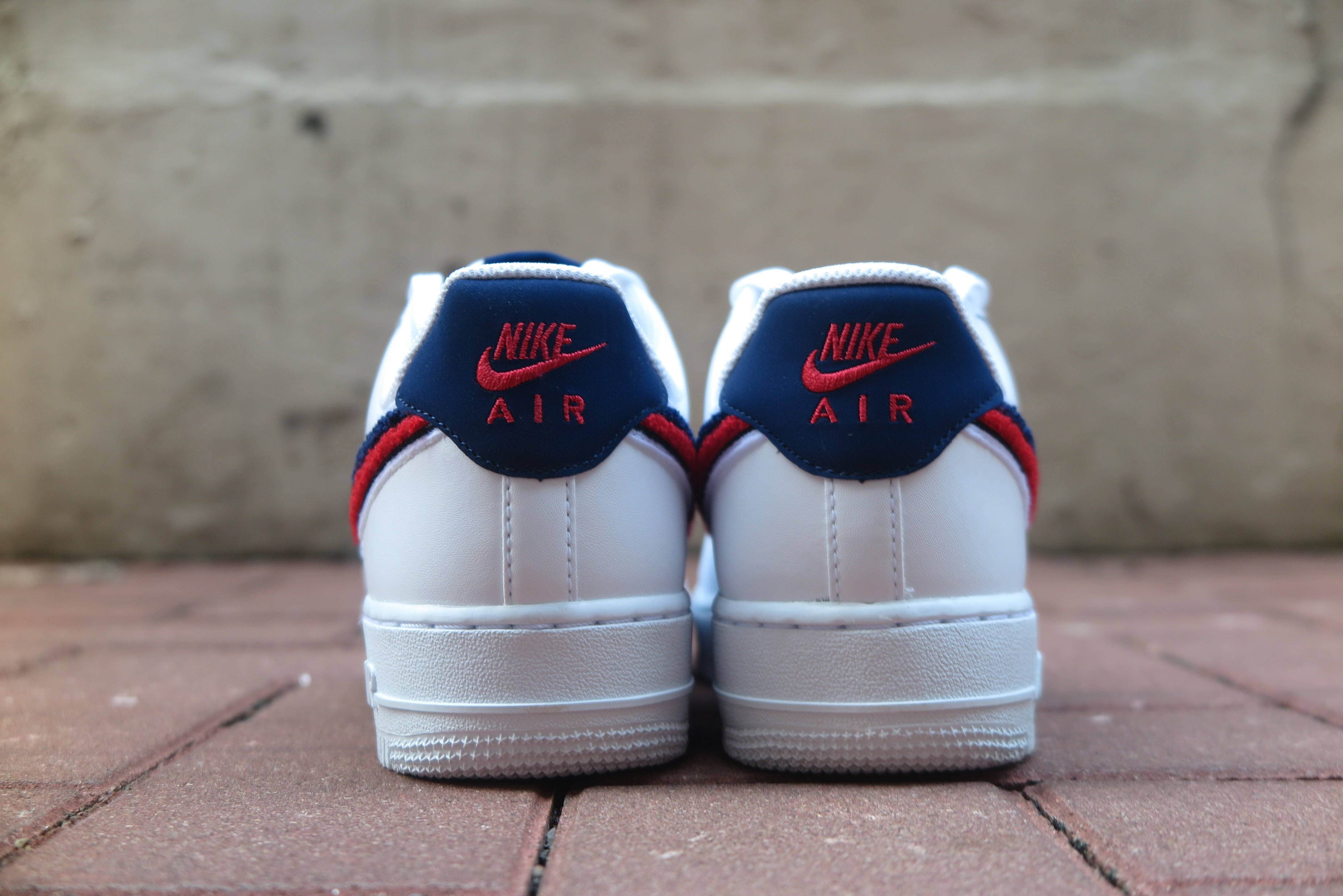 Nike Air Force 1 '07 LV8 - White/Blue Void/University Red #823511-106-Preorder Item-Navy Selected Shop
