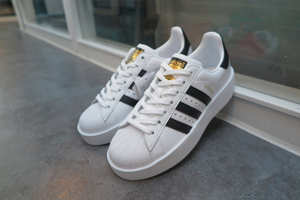 adidas WMNS Superstar Bold - Running White/Core Black/Gold Metallic #BA7666-Sneakers-Navy Selected Shop