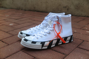 Off White X Converse Chuck 70 HI - White/Cone/Black #163862C-Sneakers-Navy Selected Shop