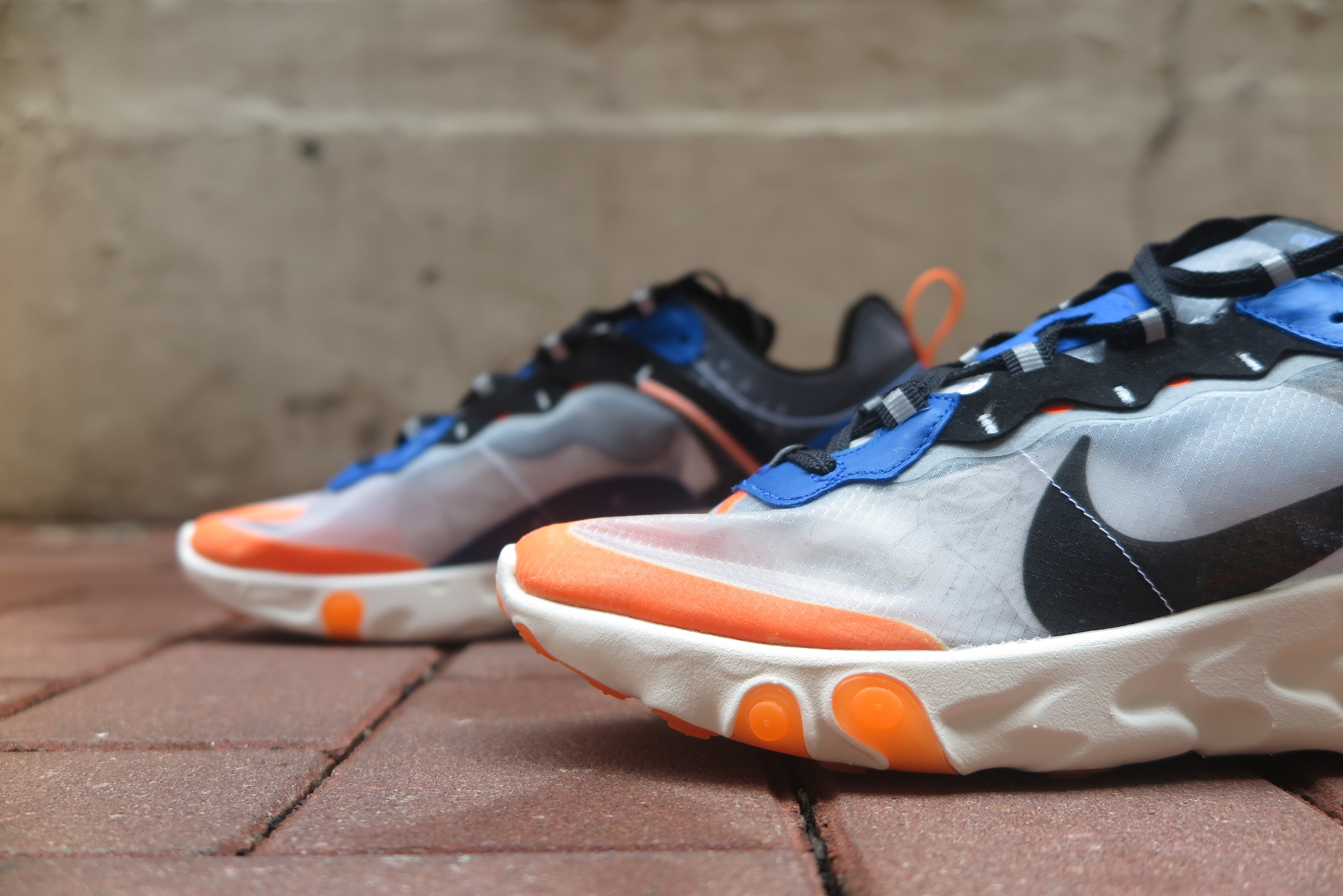 Nike React Element 87 - Wolf Grey/Black/Thunder Blue #AQ1090-004-Sneakers-Navy Selected Shop