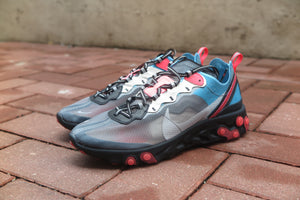 Nike React Element 87 - Black/Cool Grey/Blue Chill/Solar Red #AQ1090-006-Sneakers-Navy Selected Shop