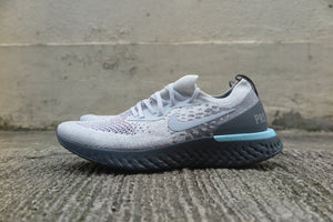 "Nike Epic React Flyknit ""Paris"" - Light Cream/Wolf Grey/Dark Grey #AV7013-200-Sneakers-Navy Selected Shop"