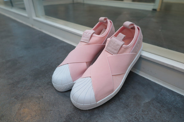 adidas WMNS Superstar Slip-On - Halo Pink/Footwear White #S76408-Sneakers-Navy Selected Shop